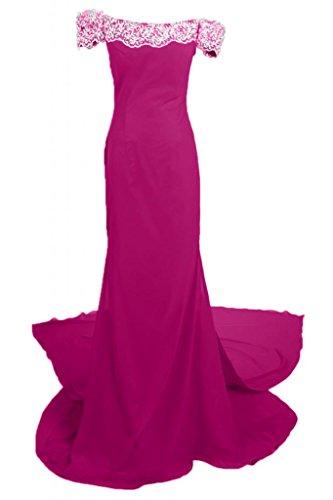 donna a sera vestiti spalla Maxi da Off L Fuchsia Romantic abito per Sunvary scollo Pageant da xwnC6IS