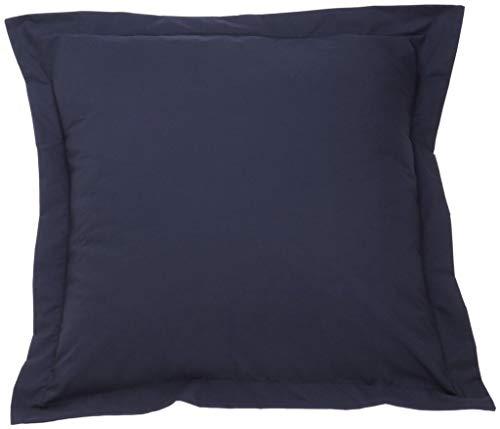 Navy Blue Pillow Shams Set of 2 - Luxury 580 Thread Count 100% Egyptian Cotton Cushion Cover Euro Size Decorative Pillow Cover Tailored Poplin European Pillow Sham (2 Pack, Euro 26x26)