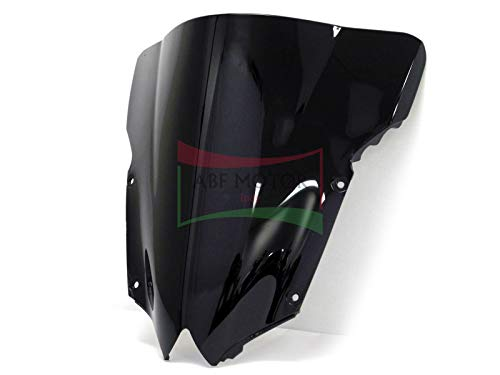 Protek ABS Plastic Injection Black Smoke Double Bubble Transparent Windscreen Windshield for 2008 2009 2010 2011 2012 2013 2014 2015 2016 Yamaha YZF R6