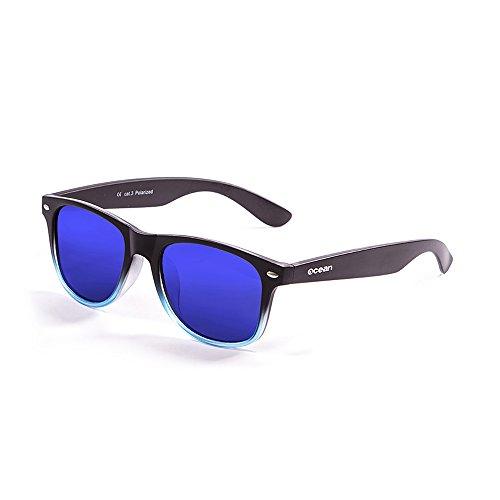 Ocean Sunglasses Beach Lunettes de soleil Matte Noir/Bleu Transparent/Revo Bleu agoC4mEXc