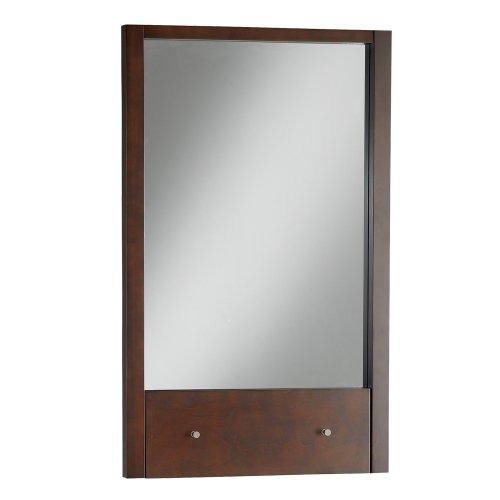 American Standard 9435.101.310 Cascada Rectangular Mirror with Drop Down Shelf, Tobacco - Hardwood Frames Rectangular Mirror