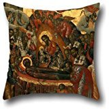 Pillowcase Of Oil Painting Priest Victor - The Dormition Of The Virgin,for Husband,kids Boys,festival,son,him,teens Boys 16 X 16 Inches / 40 By 40 Cm(both Sides) -