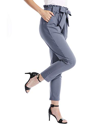 CHICIRIS Women's Fashion Leisure Stretch Ladies Trouser Blue Purple Size M