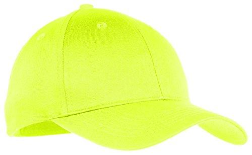 Port & Company Boys Six-Panel Twill Cap YCP80 -Neon Yellow OSFA ()