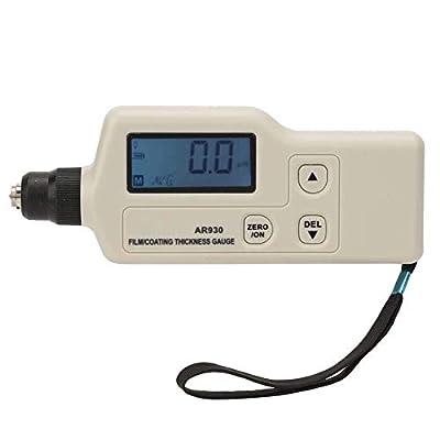 Meter Scientific Measurement Coating Thickness Gauge AR930 Digital Coating Thickness Gauge Tester Professional Paint Meter Data Storage Measuring Range 0~1800um