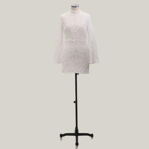 Ultramall Fashion Women Slim fit Summer Long Sleeve Bat Sleeve O- Neck Formal Party Dress(White,XL) by Ultramall (Image #7)