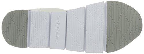 Calvin Nylon White Sneakers Reflex Women's Klein Top Low Microfiber Jeans Tori rzvTrqf
