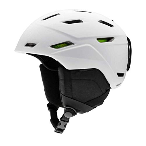 Smith Optics Mission Adult Ski Snowmobile Helmet - Matte White/Xlarge