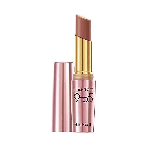 Lakme 9 to 5 Primer + Matte Lip Color, MB1 Coffee Command, 3.6 g
