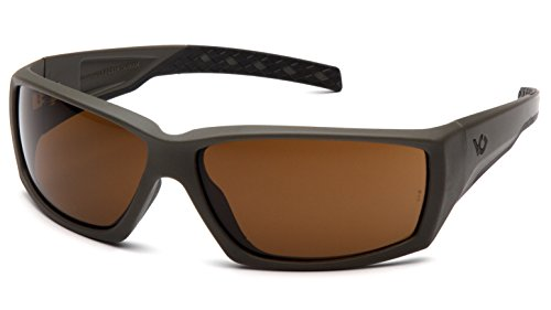 Venture Gear Overwatch Shooting Safety Sunglasses, OD Green, Bronze Anti-Fog Lens