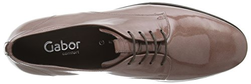 Gabor - Zapatos de cordones de charol para mujer Violeta violeta