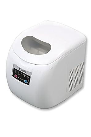 capital eros im12w compact counter top mini ice maker 12kg per day white