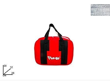 Bolsa nevera pequeña rojo negro Milan FREE-GO 28 x 12 x H 20 cm ...