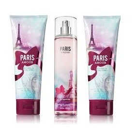 Bath & Body Works Signature Collection PARIS AMOUR Gift Set 2 Body Cream & 1 Fragrance Mist