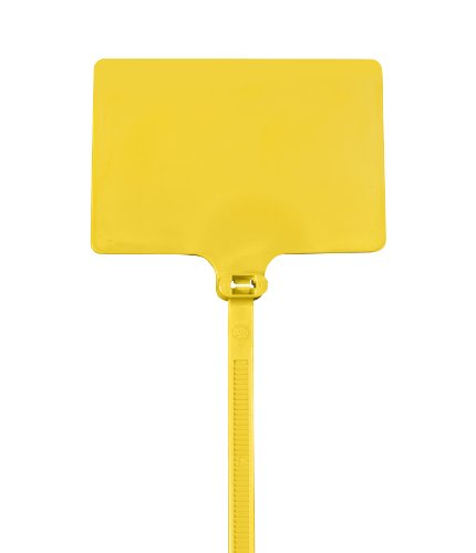 Aviditi Identification Cable Tie, 9'' L x 1/4'' W, 120 lb Tensile Strength, Yellow, Case of 100 (CTID86) by Aviditi (Image #1)