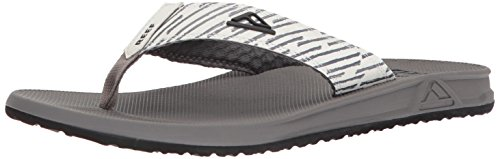 Reef Print Sandals - Reef Men's Phantom Prints Sandal, Grey Lines, 10 M US