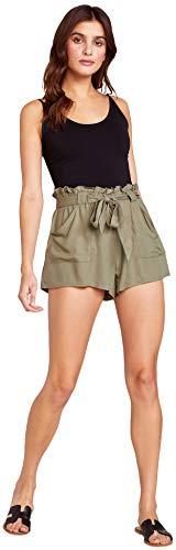 Jack by BB Dakota Womens belt it out paper bag shorts, field green small