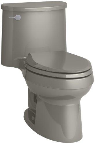 Fixture Cashmere (KOHLER K-6925-K4   Adair One-Piece Elongated 1.28 GPF Toilet with Aqua Piston Flush Technology and Left-Hand Trip Lever, Cashmere)