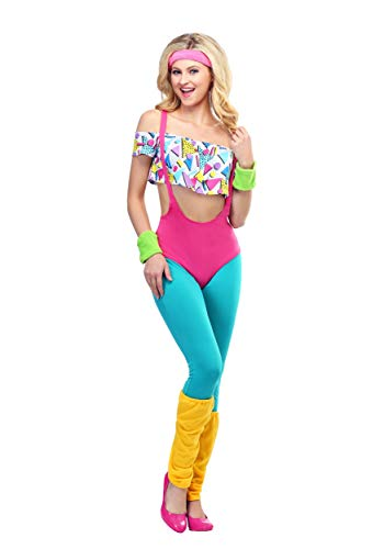 (Women's Work It Out 80's Costume)