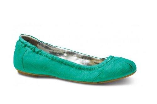 Toms Donna Di Lino Verde Classica Balletto Piatto 023028b13-verde