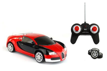 Liberty Imports Super Fast Drift Red Veyron R/C Sports Car Remote Control Drifting Race Car 1:24 + Headlights, Backlights, Side Lights + 2 Sets of Tires (Drifting Remote Control Cars compare prices)