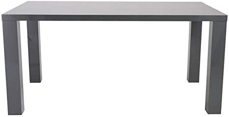 Eurostyle Abby 63 Rectangular Dining Table in Gray Lacquer