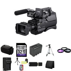 Sony HXRMC2000U Shoulder Mount AVCHD Camcorder + 32GB SDHC Class 10 Memory Card + Extra NP-FP970L Battery + 37mm 3 Piece Filter Kit + Full Size Tripod + Deluxe Extra Large Video Bag + Lithium Ion External Rapid Battery Charger + Mini Tripod Kit + USB SDHC