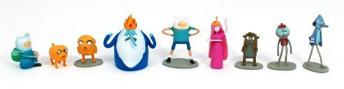 Adventure Time and Regular Show Mini Figures 9 pc Full Set (cake topper / party favor) ()