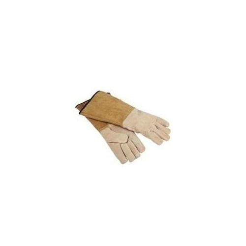 HomeBasix Pigskin 16'' Wood Stove Fireplace Protective Gloves CPA03110MM3L by Homebasix