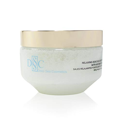 Deep Sea Cosmetics | Relaxing Body Salt Scrub | Body Scrub with Dead Sea Salt and Minerals, Aromatic Oils and Vitamin E - 14.4 Oz