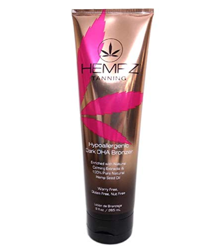 Hempz HYPOALLERGENIC DARK DHA BRONZER - 9 oz. (Best Natural Indoor Tanning Lotion)