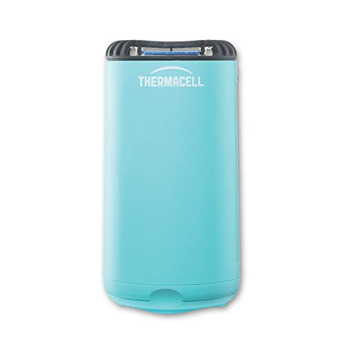 Thermacell Patio Shield Mosquito Repeller, Glacial Blue; Easy to Use, Highly Effective; Provides 12 Hours of DEET-Free Mosquito Repellent; Scent-Free, No Spray, No Smoke and Cordless