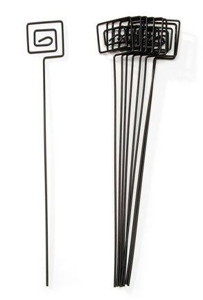 Amazon.com: David Tutera Square Wire Card Holder Pick - Black - 10 ...