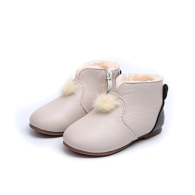 b0d80a2f4 Wuyulunbi  Las niñas Pu Zapatos niña Flor Forro invierno zapatos botas  botines botines botas Mid-Calf para vestimenta casual Rosa  Amazon.es   Deportes y ...