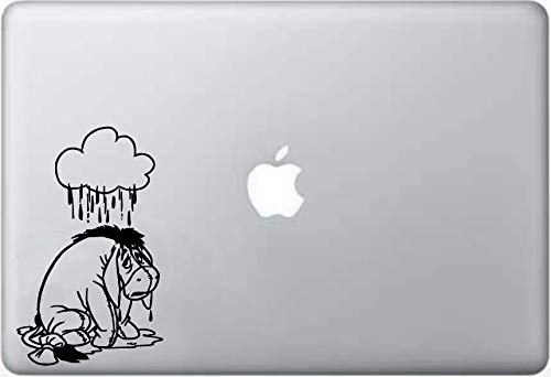 Eeyore Decals - LA DECAL disney character eeyore crying on car truck SUV laptop macbook vinyl decal sticker Black 6 inches