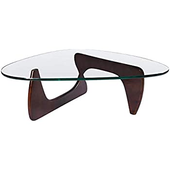 Amazon Com Emod Noguchi Coffee Table Triangle Glass Top