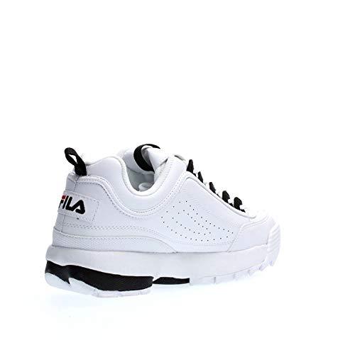 Pelle 1010575 Black Cb Uomo Disruptor 00e Da Scarpe Bianca Sneaker Fila White Low In 8vOwZ