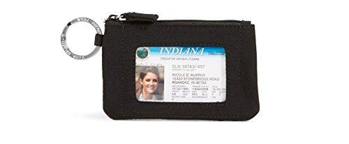 Vera Bradley Authentic New Zip ID Case in Classic Black, (Zip Id Case)