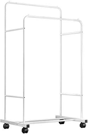 玄関収納 玄関およびベッド部屋のための耐久の金属の衣服の棚の衣服の棚1タイヤの収納箱の棚 (Color : White, Size : 80×51×160cm)