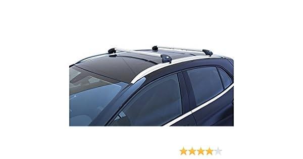Barras portaequipajes para coche portaequipajes Viva 2 integrado para coche aluminio: Amazon.es: Coche y moto