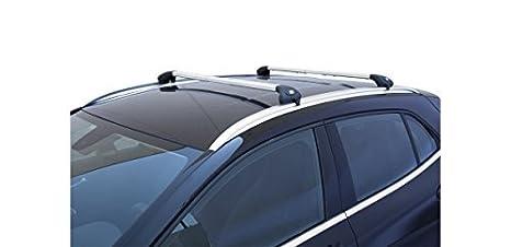 Barras portaequipajes de coche Viva 2 integrado para Opel Astra Sport Tourer SW de 2009 en adelante aluminio: Amazon.es: Coche y moto