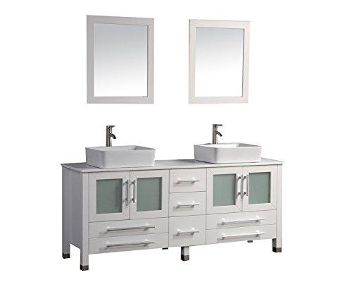 MTD Vanities Malta-61 Malta Double Sink Bathroom Vanity Set, 61