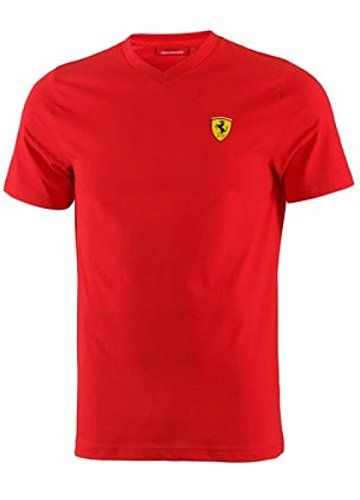 - Ferrari Men's V-Neck Tee (Red, XX-Large)