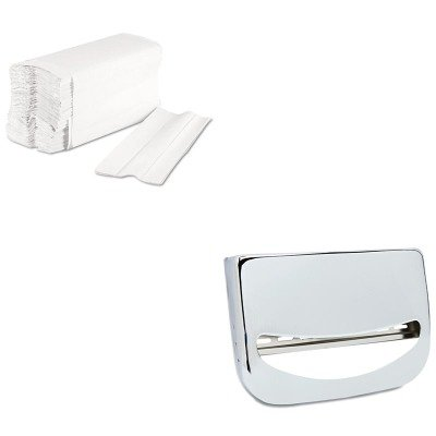 KITBWK6220BWKKD200 - Value Kit - Stainless Steel Toilet Seat Cover Dispenser (BWKKD200) and Boardwalk 6220 Centerpull Paper Towels (BWK6220)