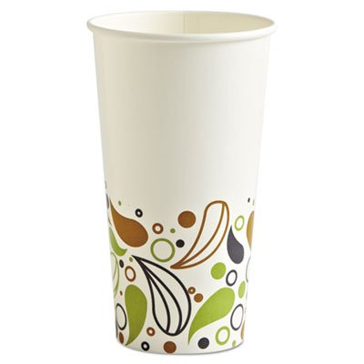 Boardwalk DEER20CCUP Deerfield Printed Paper Cold Cups 20 oz 50 Cups/Pack 20 Packs/Carton