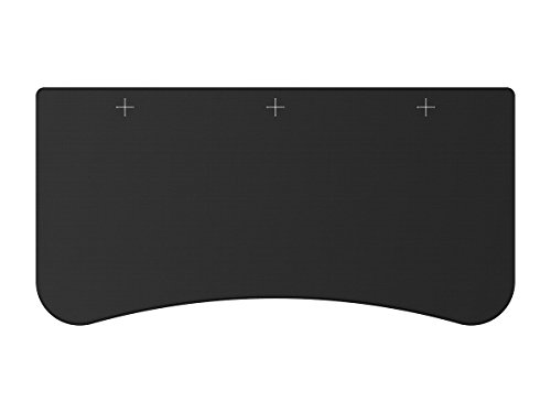 Monoprice Whole-Desk Mouse Pad for 3-Piece Desktop Black | Custom Sized for Pre-Drilled 3-Piece Sit Stand Desk Table Top 63 Inches Wide - Workstream Collection