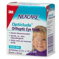 Nexcare Hypoallergenic Eye Patch (Nexcare Opticlude Orthopic Eye Patches, Junior Size - 20)