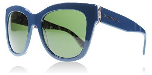 D&G Dolce & Gabbana Women's 0DG4270 Square Sunglasses, Top Petroleum/Print Rose Grey/Green, 55 mm