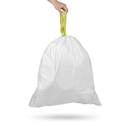 Ninestars NSTB-6-30 Extra Strong White Trash Bag w/Drawstring Closure, 6 Gallons / 20 L