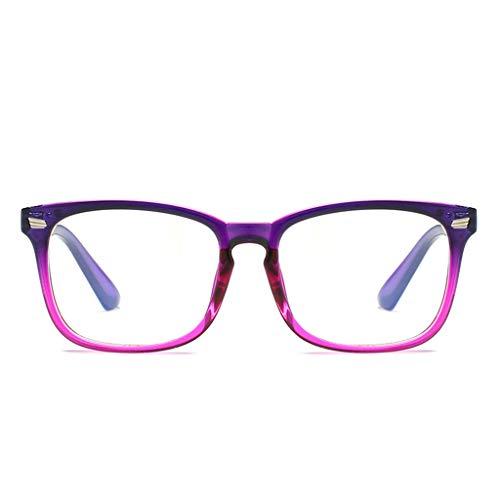 Tuscom Blue Light Blocking Glasses Anti Blue Ray Glasses Oversized Round Circle Sunglasses Nerd Eyeglasses Frame (Blue) by Tuscom@ (Image #4)